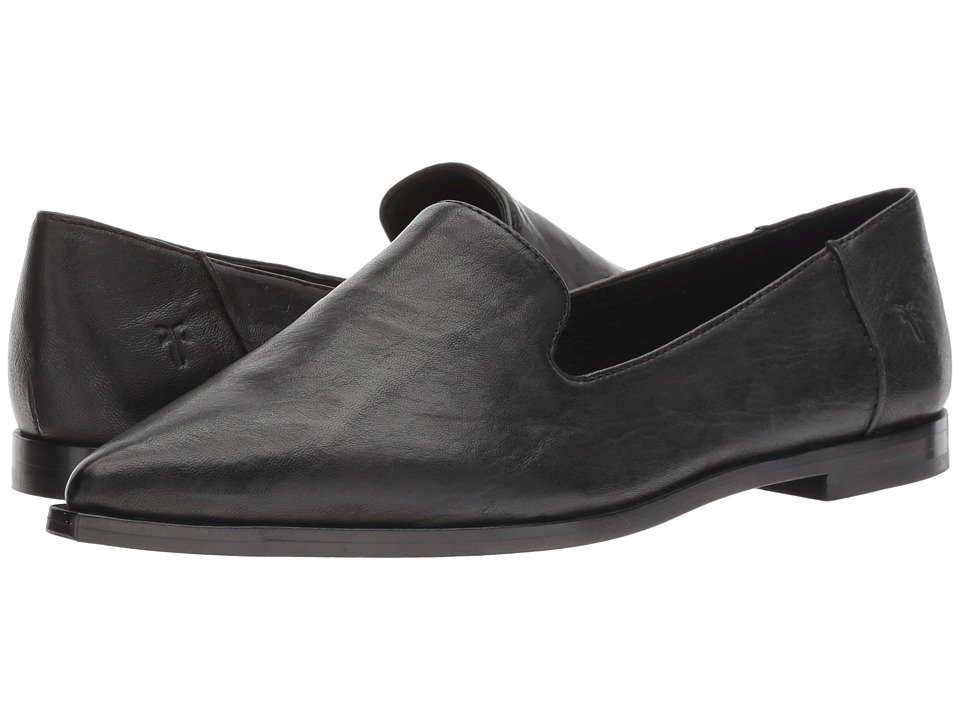 Frye Kenzie Venetian (Black Antique Soft Vintage) Women's Slip-on Dress Shoes