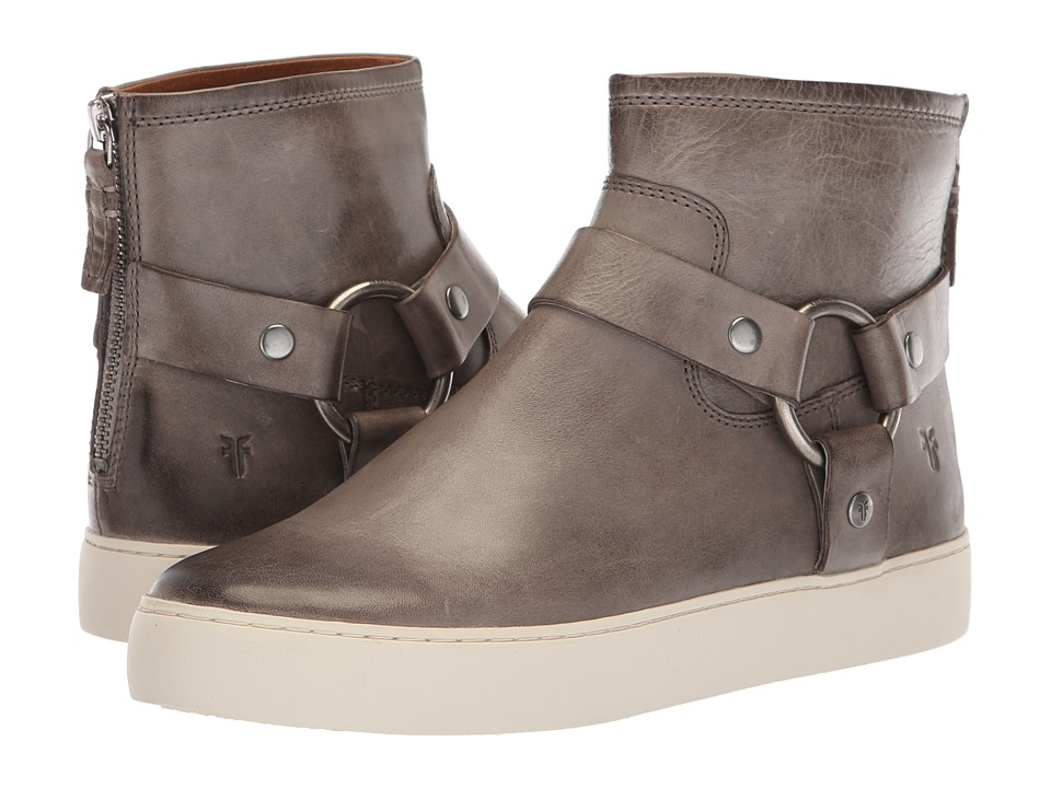 Frye Lena Harness Bootie (Grey Antique Pull Up) Women's Pull-on Boots