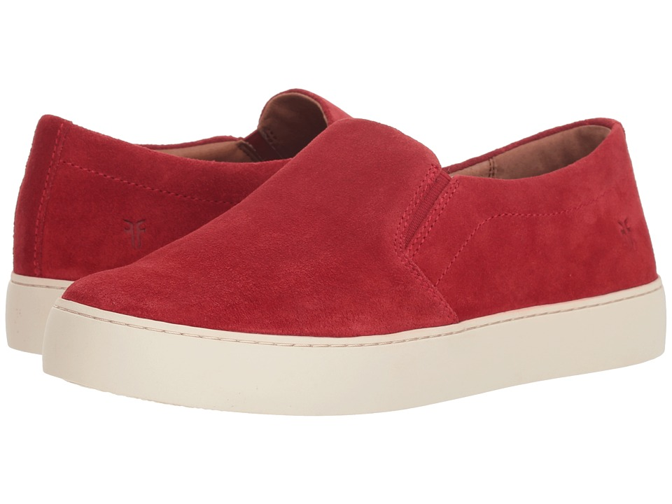 Frye Lena Slip-On (Red Suede) Slip-On Shoes
