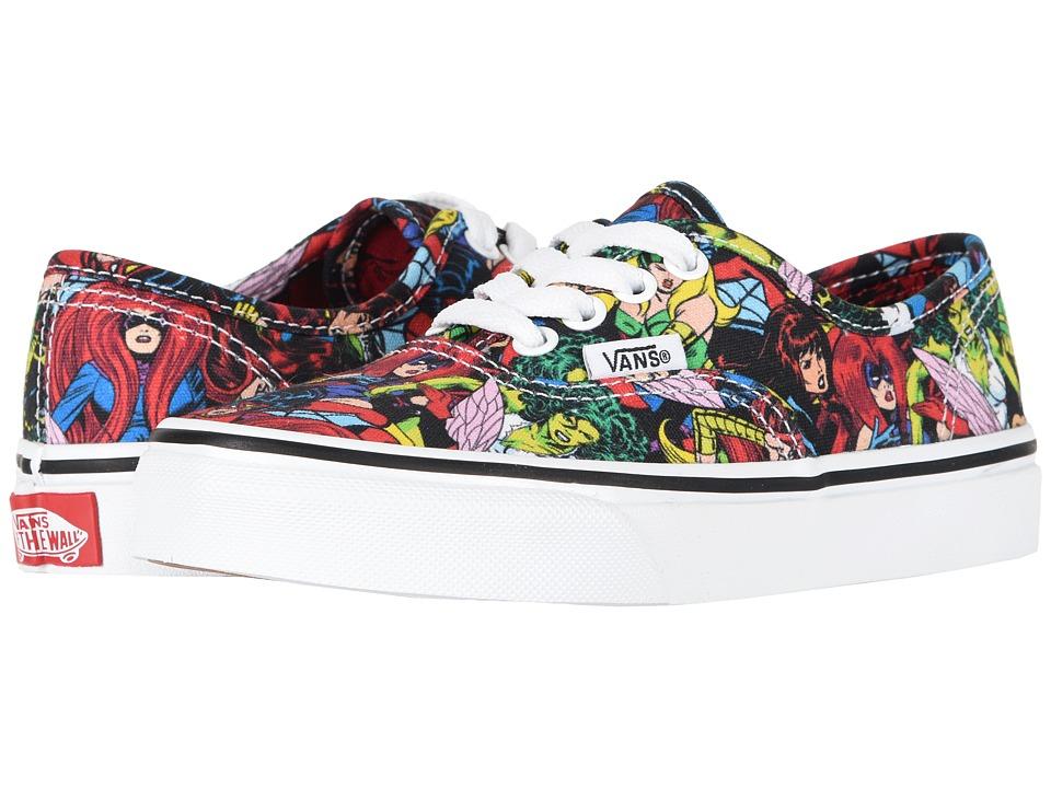 Vans Kids Vans X Marvel(r) Authentic (Little Kid/Big Kid) ((Marvel) Multi/True White) Kids Shoes