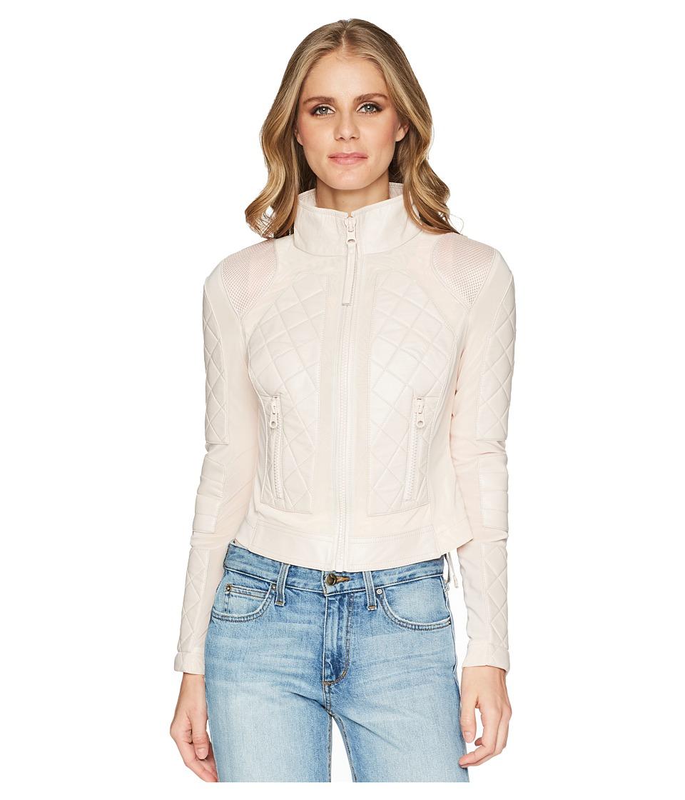 Blanc Noir - Moto Jacket (Pale Pink 1) Womens Jacket