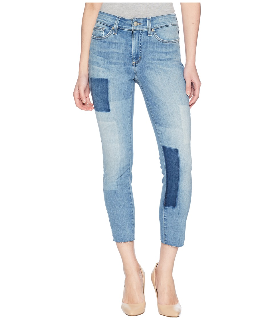 NYDJ Petite - Petite Alina Ankle w/ Raw Hem Laser Patch in Dreamstate (Dreamstate) Womens Jeans