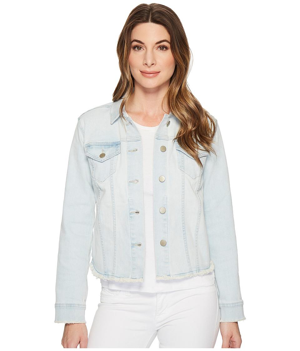 NYDJ - Denim Jacket w/ Fray Hem in Palm Desert (Palm Desert) Womens Jacket