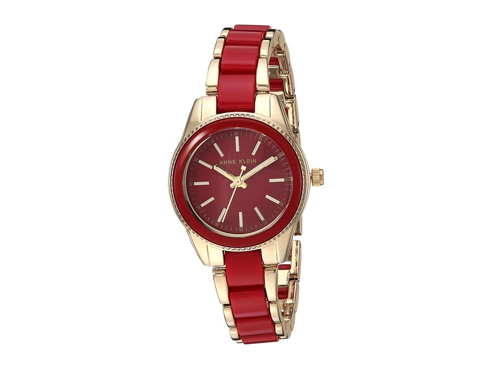 Anne Klein AK-3212RDGB (Gold-Tone/Red) Watches