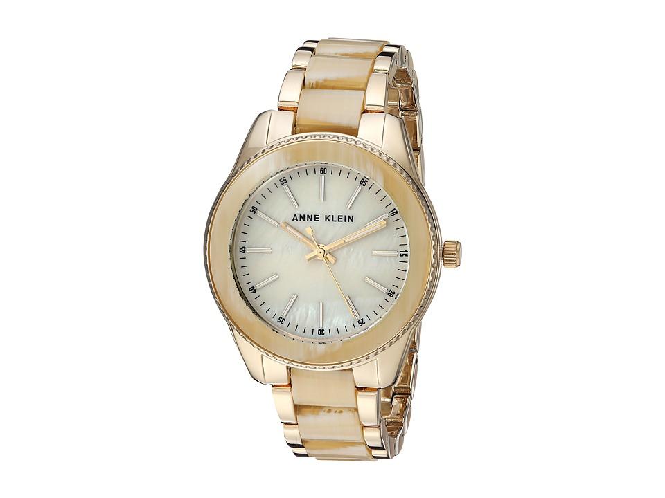 Anne Klein - AK-3214HNGB (Gold-Tone/Horn) Watches