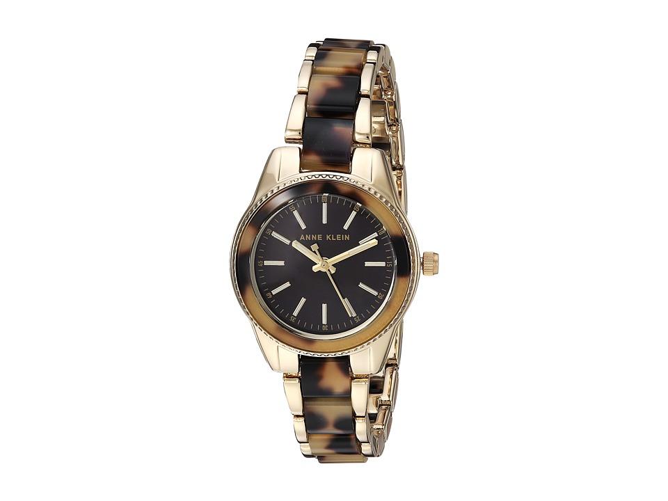 Anne Klein - AK-3212TOGB (Gold-Tone/Tortoise) Watches