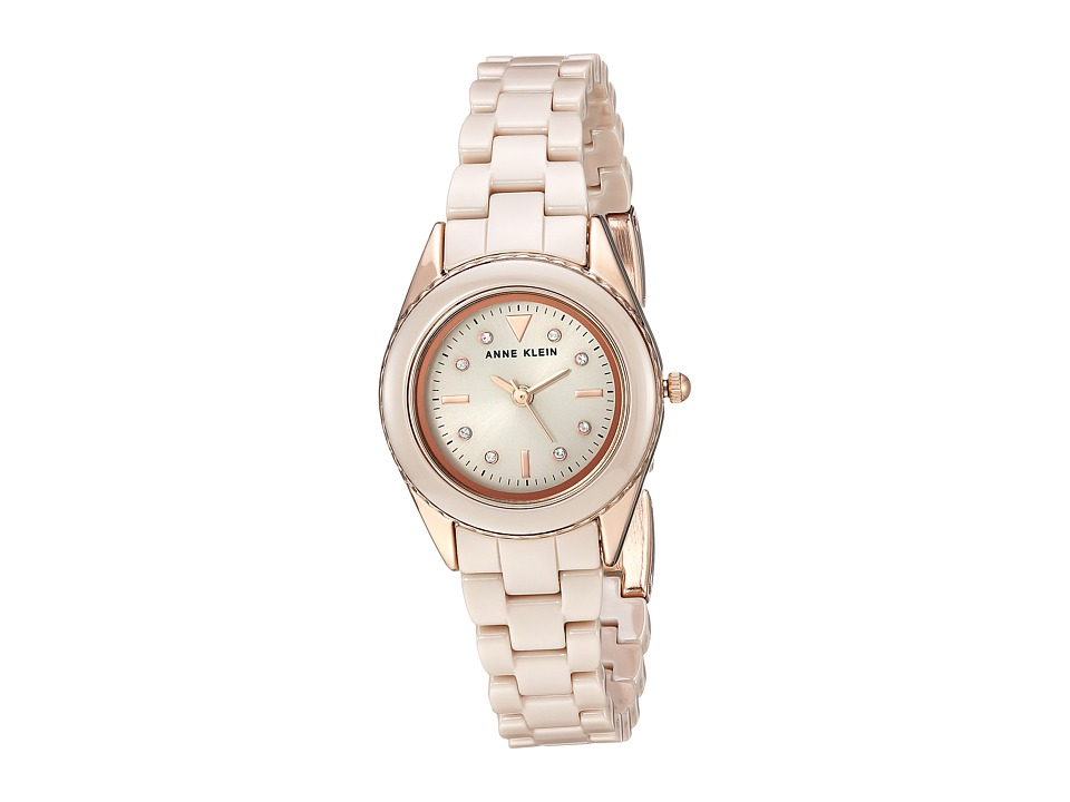Anne Klein - AK-3164TNRG (Rose Gold-Tone/Tan) Watches