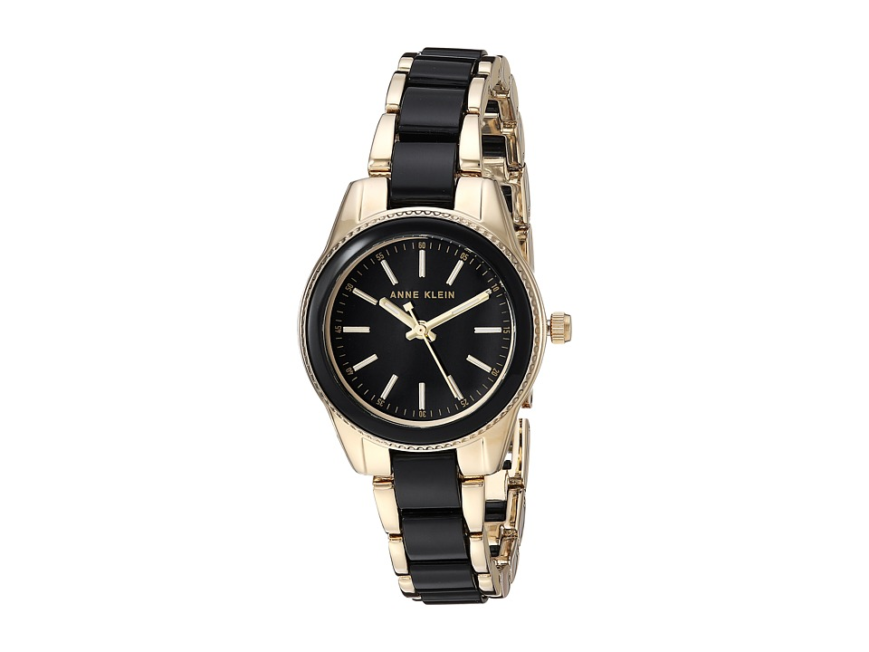 Anne Klein - AK-3212BKGB (Gold-Tone/Black) Watches