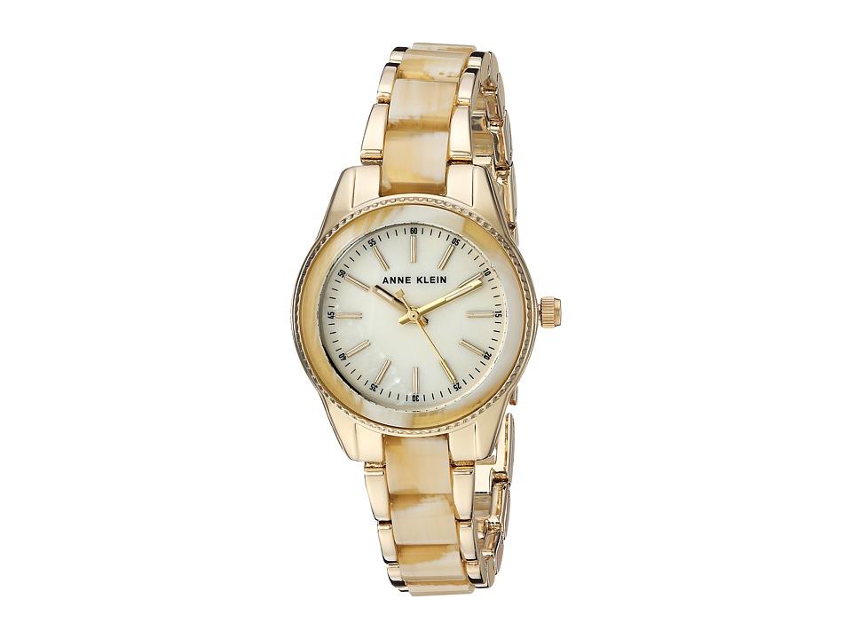 Anne Klein - AK-3212HNGB (Gold-Tone/Horn) Watches