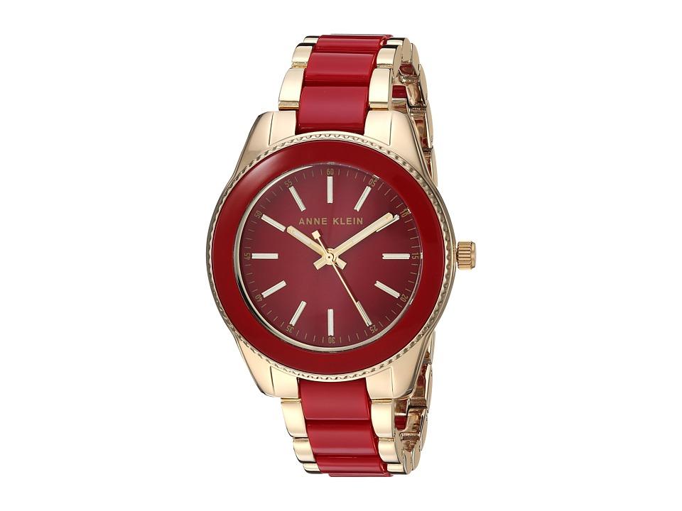 Anne Klein - AK-3214RDGB (Gold-Tone/Red) Watches
