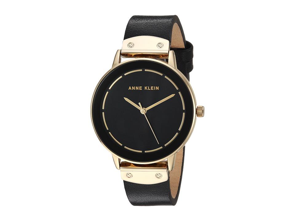 Anne Klein - AK-3224BKBK (Gold-Tone/Black) Watches
