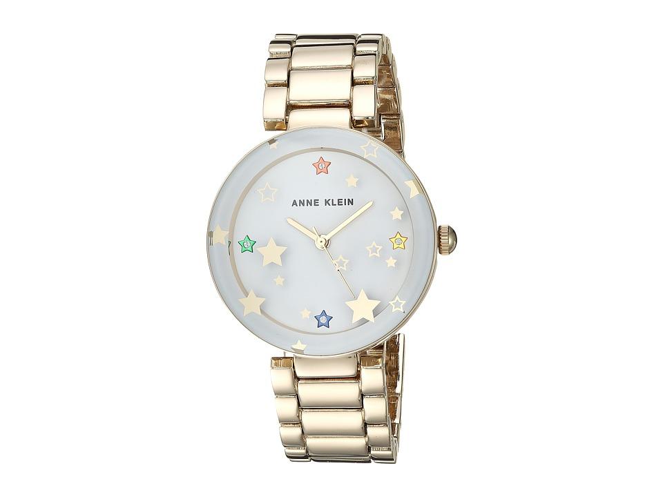 Anne Klein - AK-3218WTGB (Gold-Tone/White) Watches