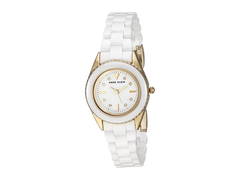 Anne Klein - AK-3164WTGB (Gold-Tone/White) Watches