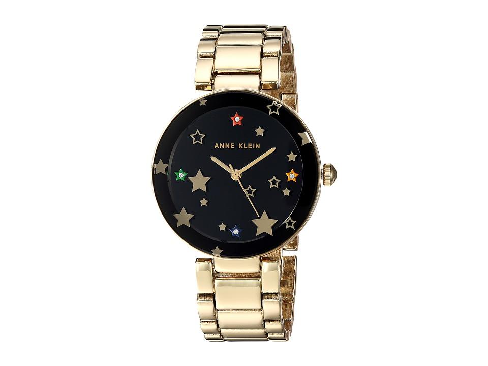 Anne Klein - AK-3218BKGB (Gold-Tone/Black) Watches