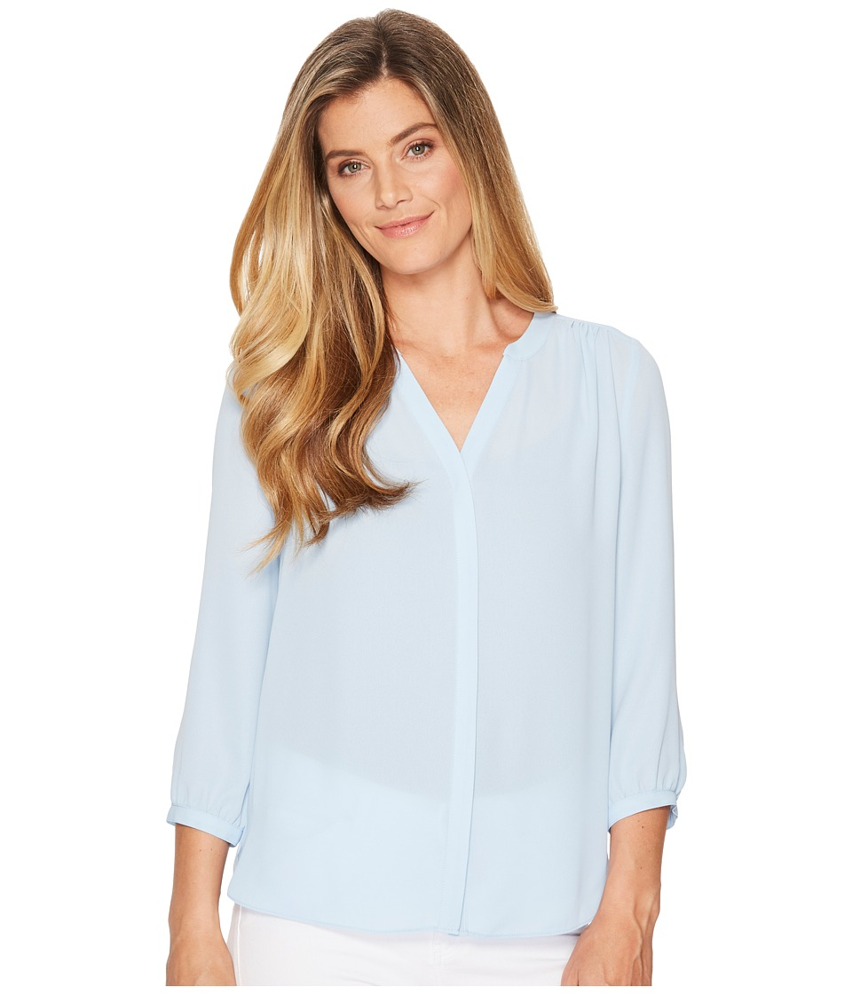 NYDJ Solid Blouse w/ Pleated Back (Tranquility) Women's B...