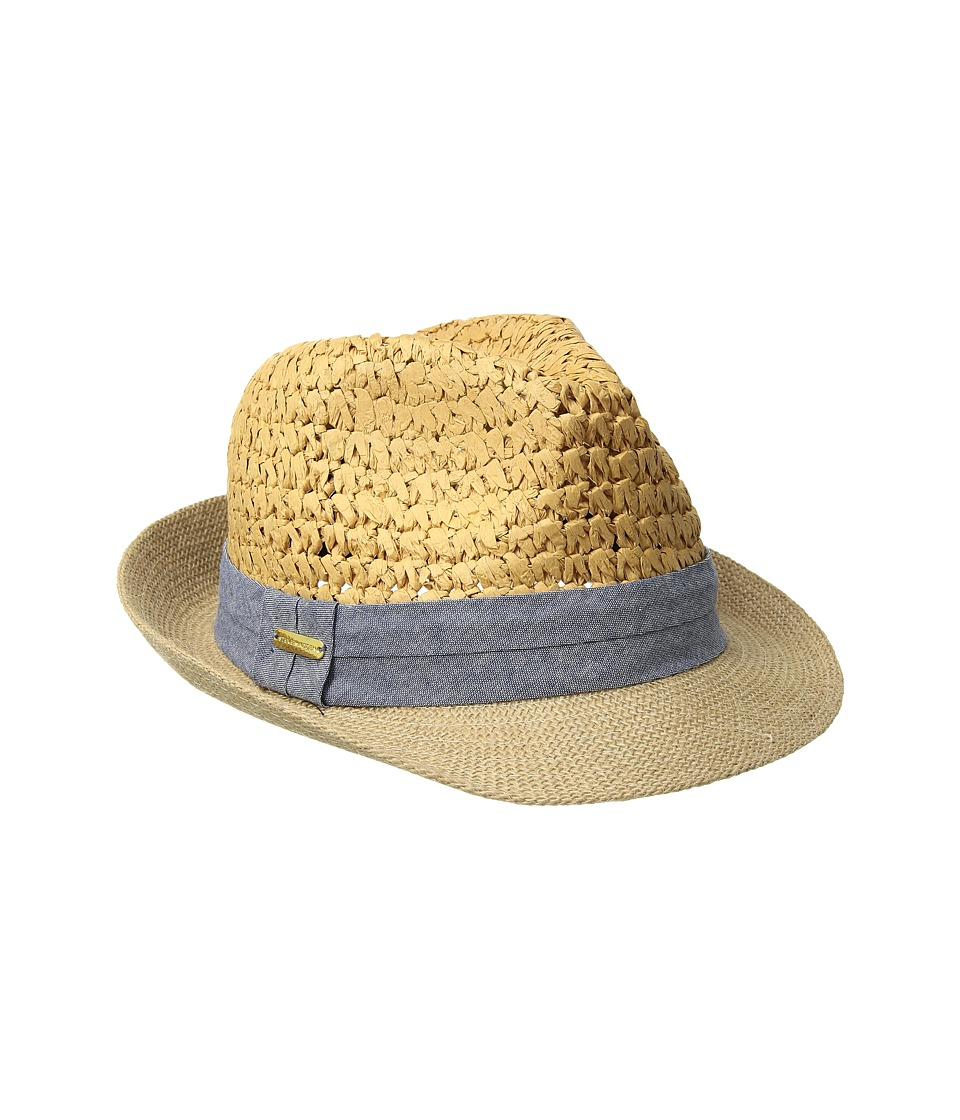 Steve Madden - Two Weave Banded Fedora (Denim) Fedora Hats