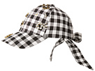 Betsey Johnson Checkered Past Baseball Hat