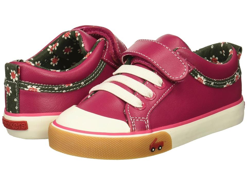 See Kai Run Kids Kristin (Toddler/Little Kid) (Berry Leather) Girls Shoes