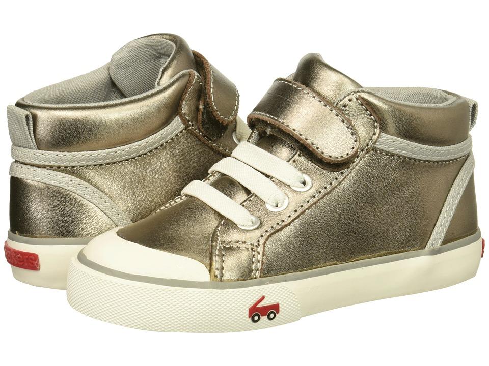See Kai Run Kids Peyton (Toddler/Little Kid) (Pewter Leather) Girls Shoes