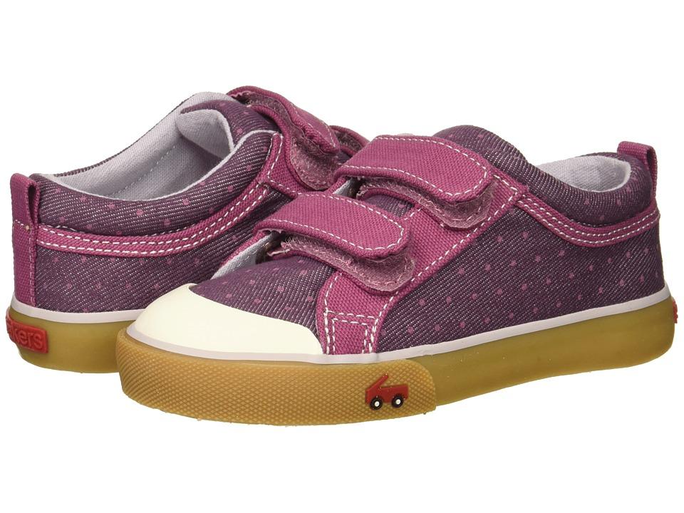 See Kai Run Kids Robyne (Toddler/Little Kid) (Purple Dots) Girl