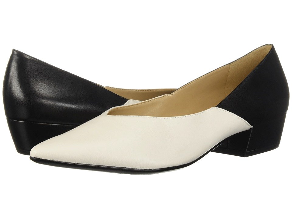 Naturalizer Betty (Alabaster Black Leather/Smooth) Slip-On Shoes