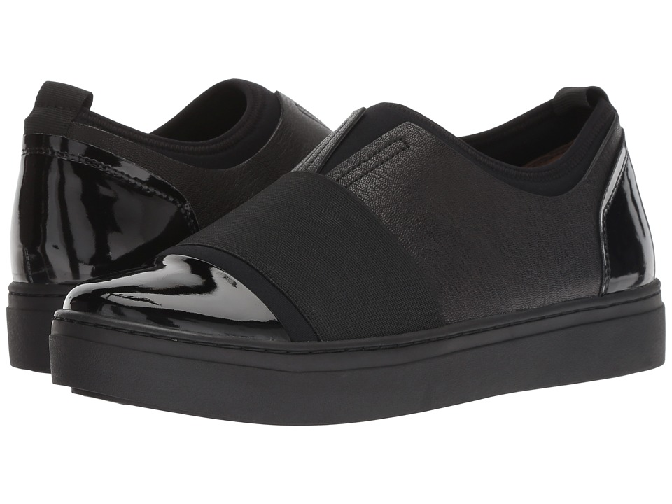 Naturalizer Cori (Black Fabric/Shiny/Leather) Slip-On Shoes