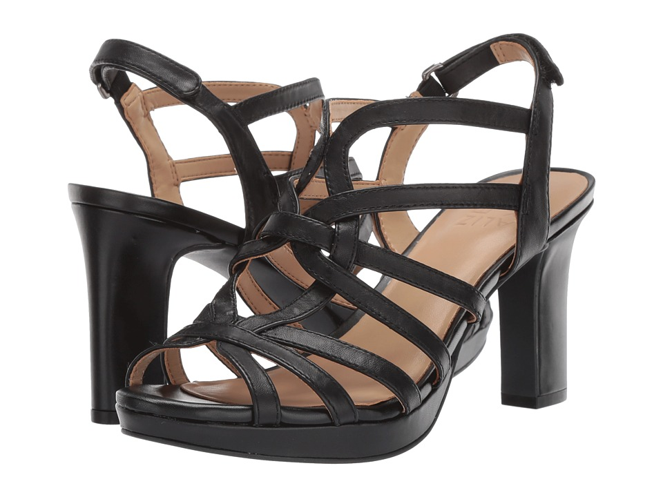 Naturalizer Flora (Black Leather) Sandals