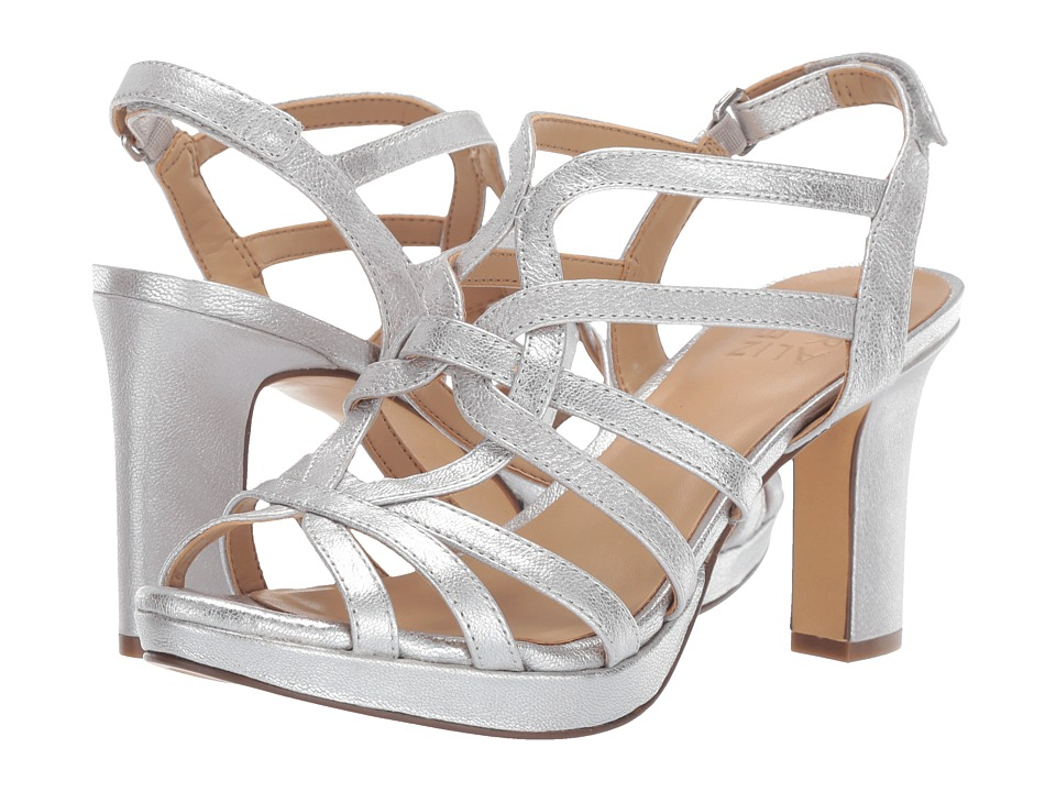 Naturalizer Flora (Silver Metallic Dust Leather) Sandals