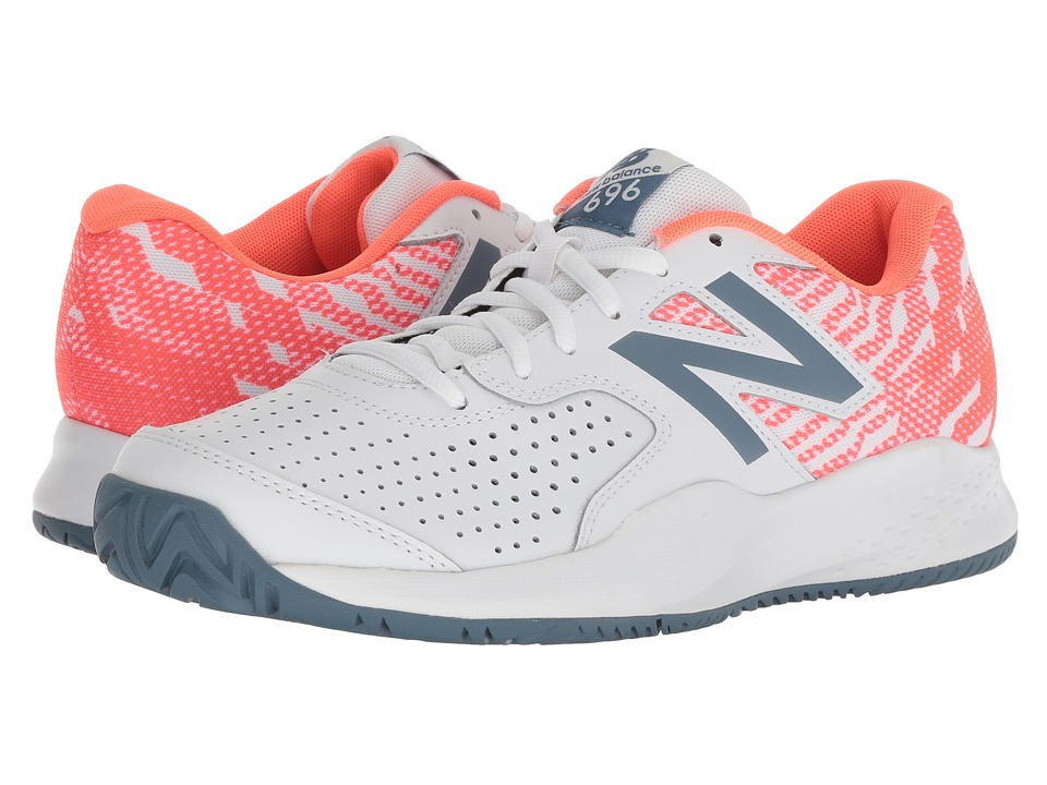 New Balance WCH696v3 Tennis (White/Dragonfly) Women's Tennis Shoes