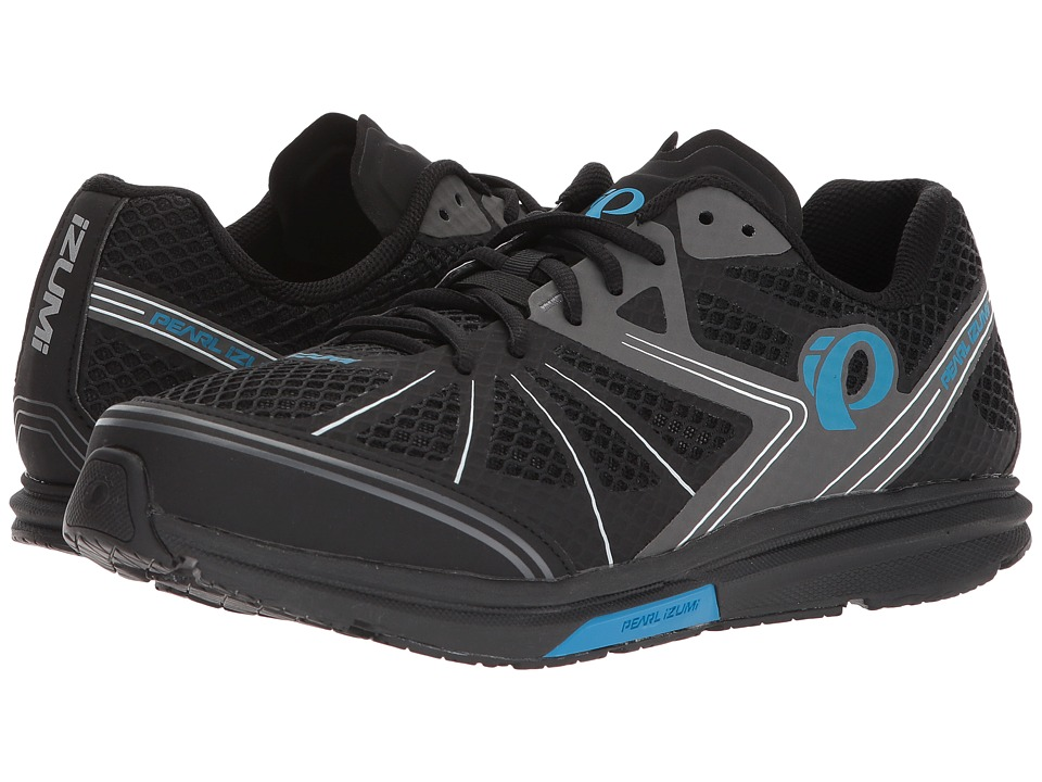 Pearl Izumi - X-Road Fuel IV (Black/Atomic Blue) Mens Cycling Shoes