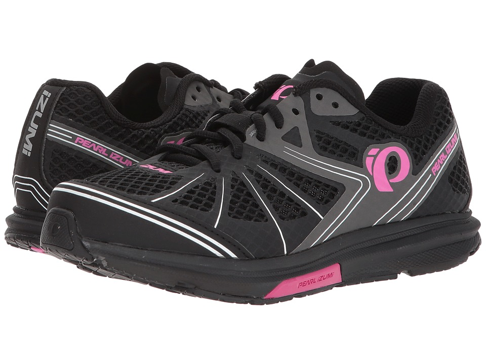 Pearl Izumi - X-Road Fuel IV (Black/Pink Glo) Womens Cycling Shoes