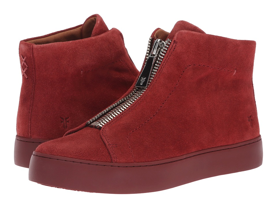 Frye Lena Zip High (Red Clay Suede)