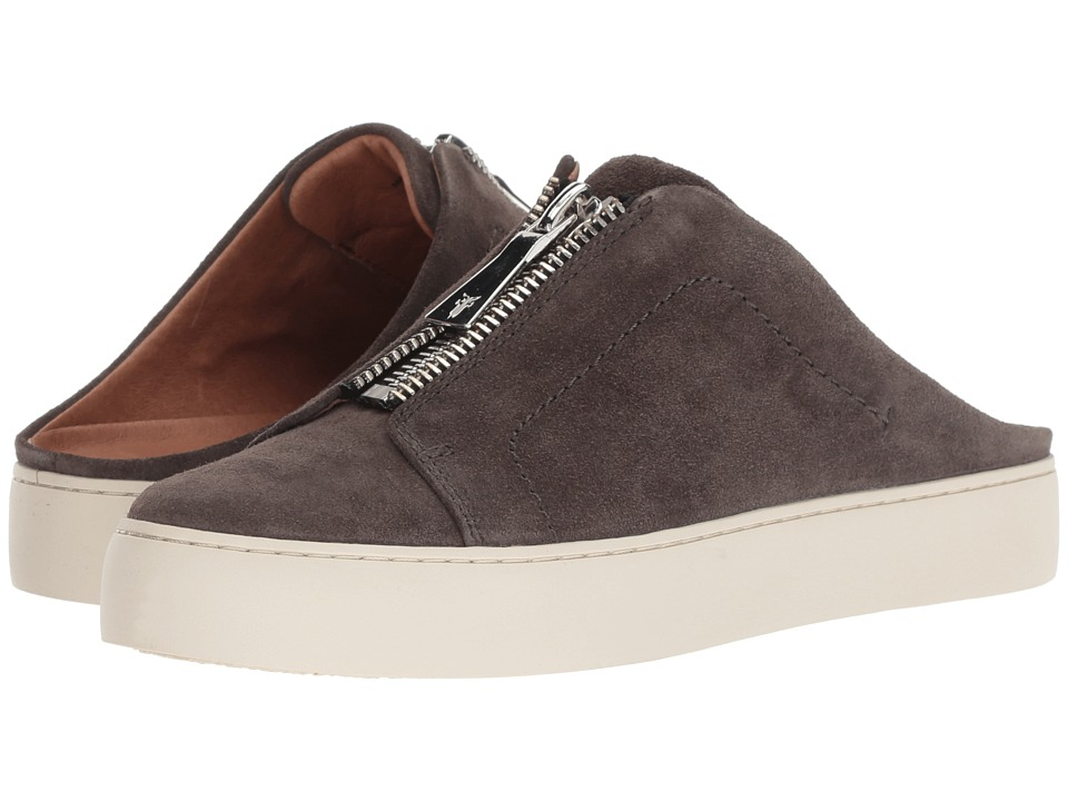 Frye Lena Zip Mule (Grigio Soft Oiled Suede) Women's Clog/Mule Shoes