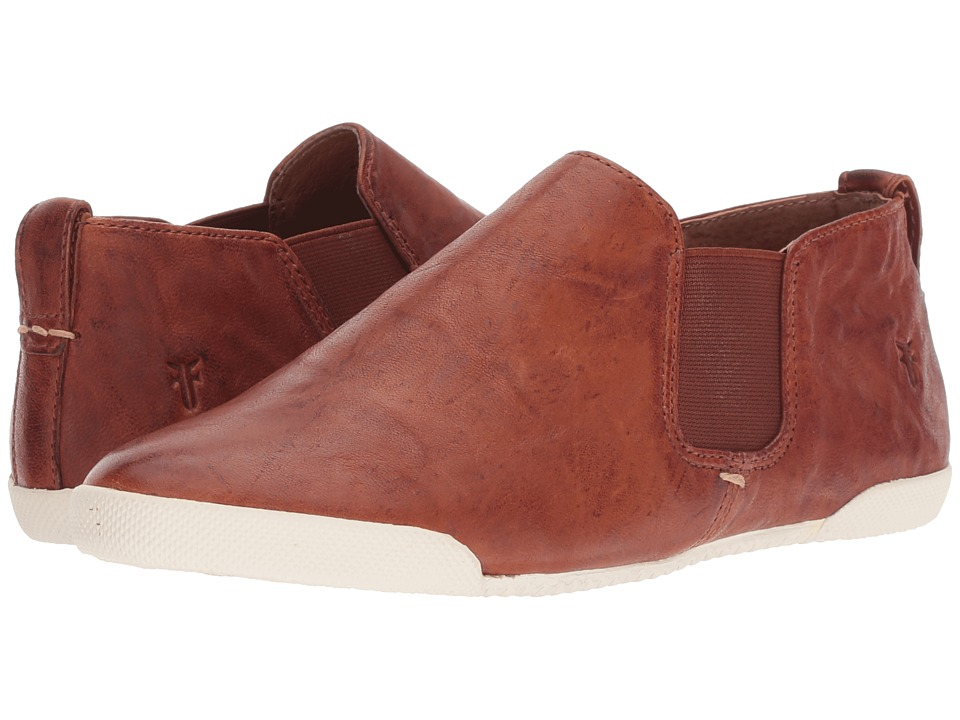 Frye Melanie Chelsea (Cognac Antique Soft Vintage) Slip-On Shoes