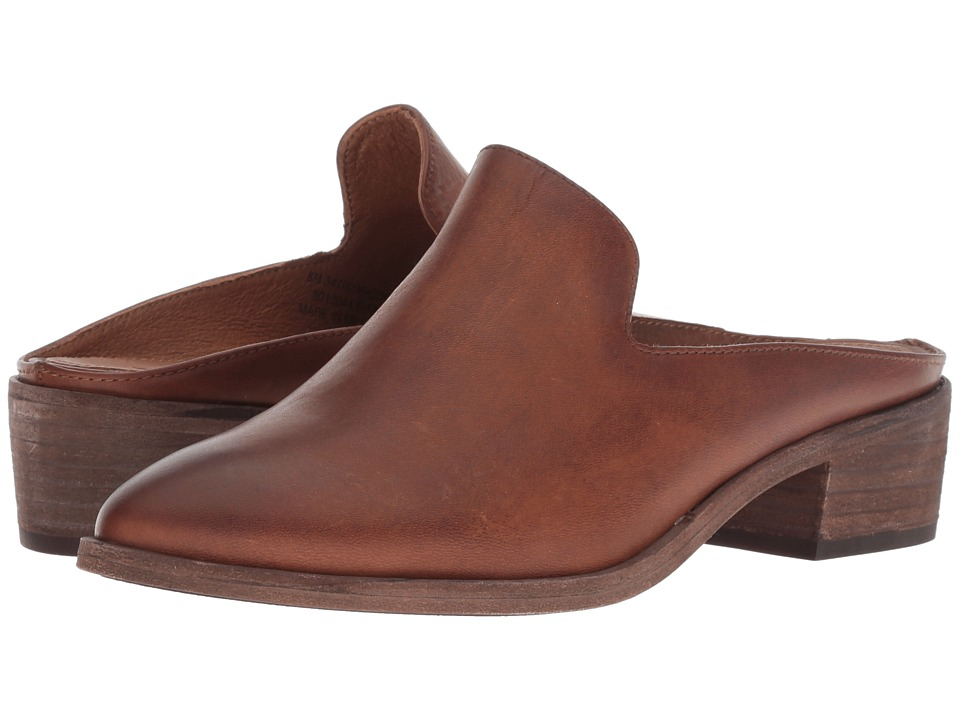 Frye Ray Mule (Cognac Antique Pull Up) Women's Clog/Mule Shoes