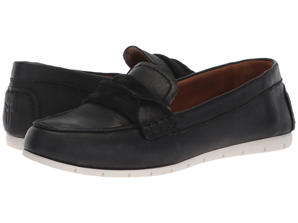 Frye Sedona Seam Moc (Black Waxed Pull Up) Women's Moccasins