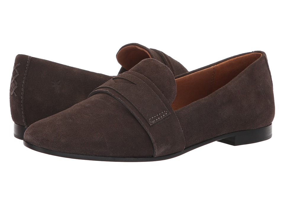 Frye Terri Penny Loafer (Charcoal Suede) Women's Slip-on Dress Shoes