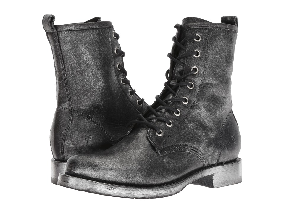 Frye Veronica Combat (Black Multi Painted Metallic Full Grain) Women's Lace-up Boots