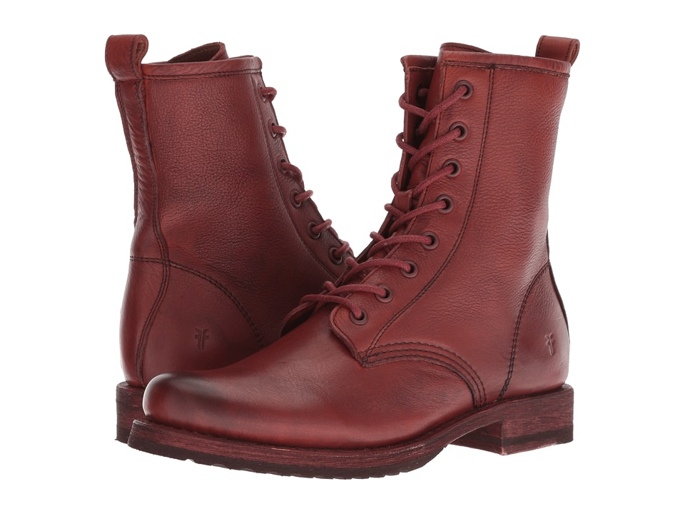 Frye Veronica Combat (Red Clay Soft Full Grain) Women's Lace-up Boots
