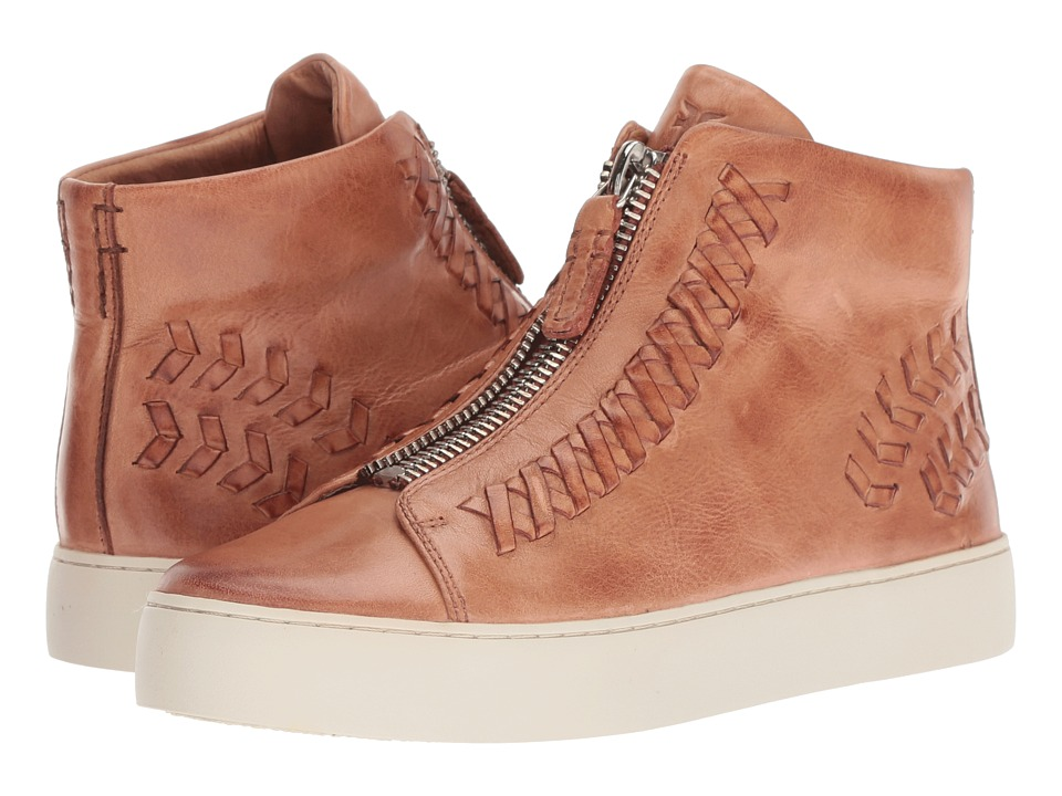Frye Lena Whip Zip High (Dusty Rose Antique Pull Up)
