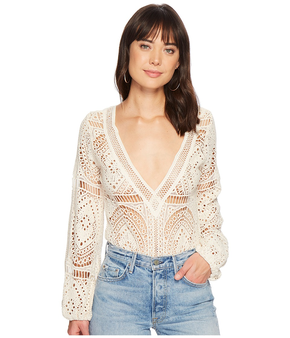 Jens Pirate Booty - Jasmine Bodysuit (Naturale Lace) Womens Jumpsuit & Rompers One Piece