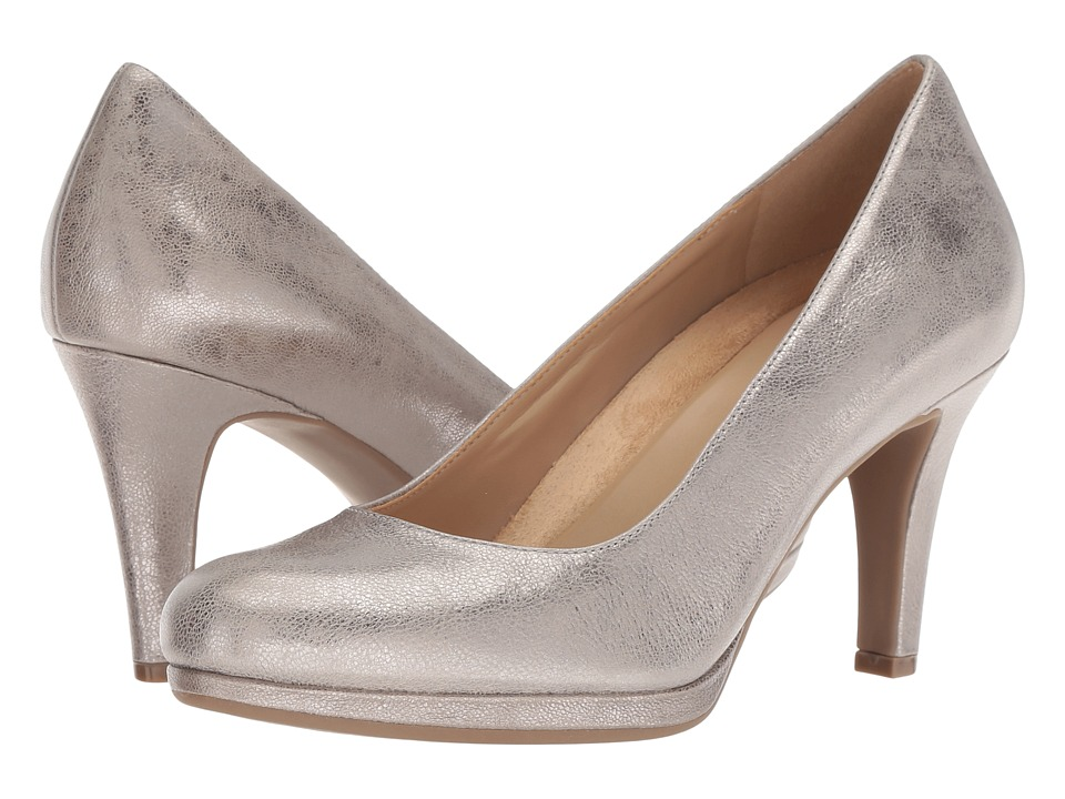 Naturalizer Michelle (Dark Silver Metallic Dust Leather) High Heels