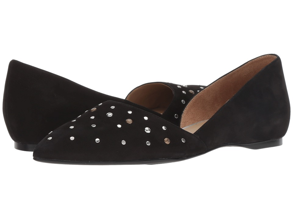 Naturalizer Samantha (Black Tumbled Nubuck) Flats