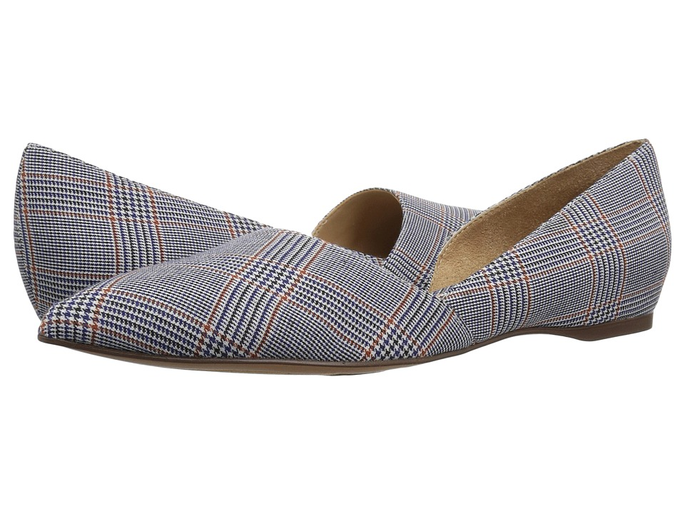 Naturalizer Samantha (Blue Multi Mini Plaid Fabric) Flats