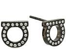 Salvatore Ferragamo Stud Strass Earrings