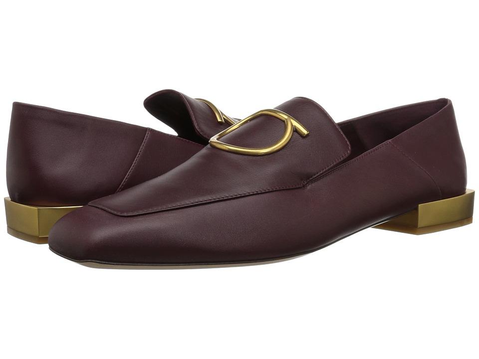 Salvatore Ferragamo Lana (Burgundy/Wine) Slip-On Shoes