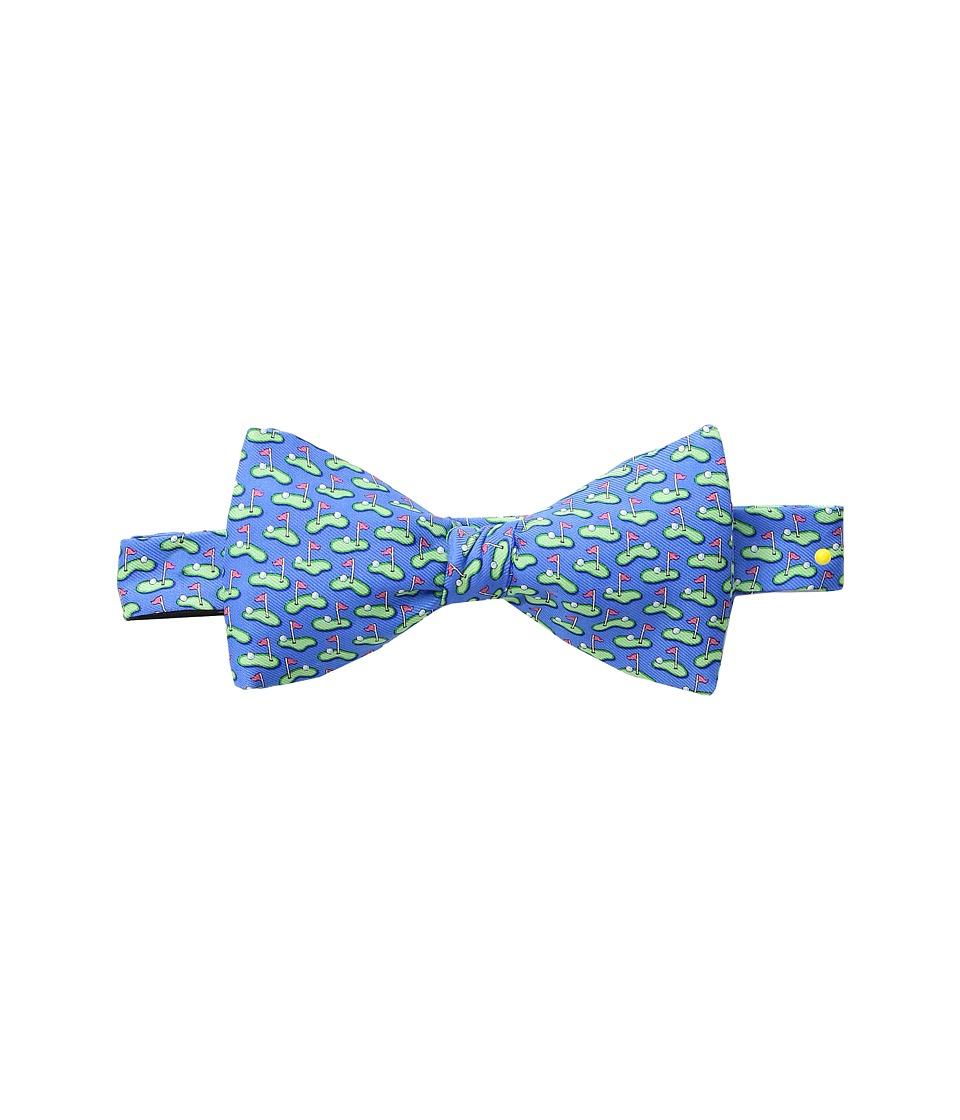 Vineyard Vines - Golf Greens Printed Bow Tie (Royal Blue) Ties