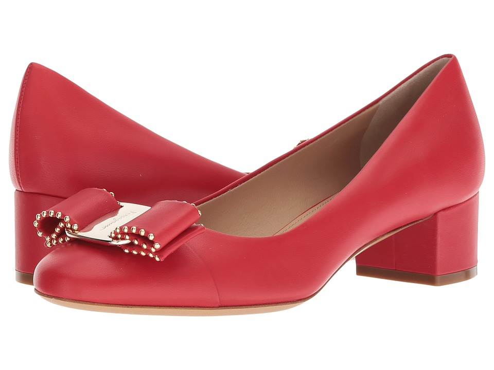 Salvatore Ferragamo Vara CT (Lipstick) High Heels