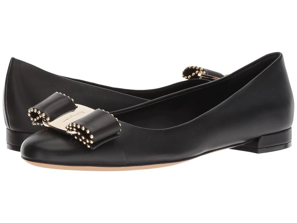 Salvatore Ferragamo Varina CT (Nero) Slip-On Shoes