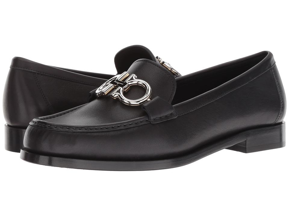 Salvatore Ferragamo Rolo (Nero) Slip-On Shoes